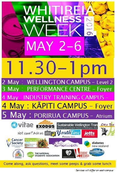 Whitireia Wellness Week poster