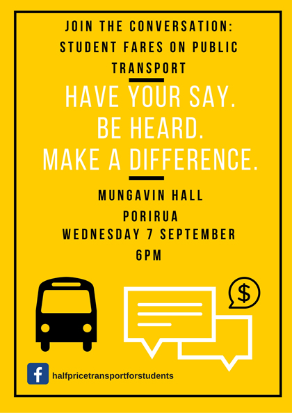 Have your say - Student fares on public transport