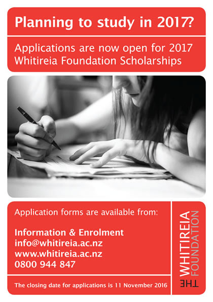 Whitireia Foundation Scholarships