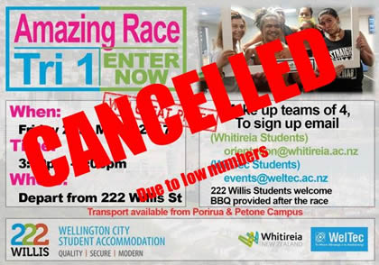 Whitireia & WelTec Amazing Race - Semester 1 2017