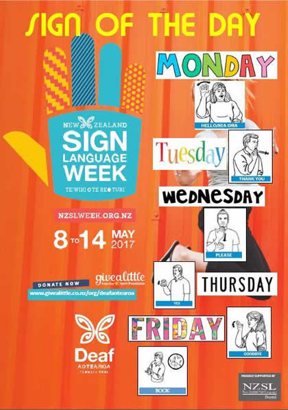 NZ Sign Language Week 2017