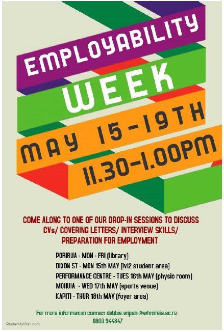 Employability Week May 15 - 19 2017