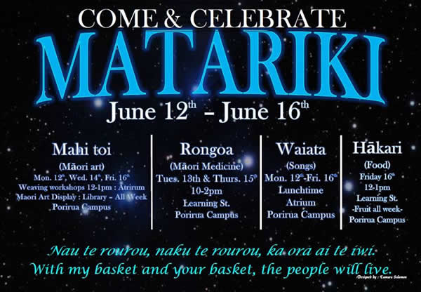 MATARIKI - come celebrate with us!