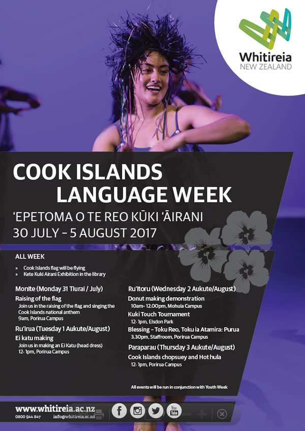 Cook Islands Language Week Events