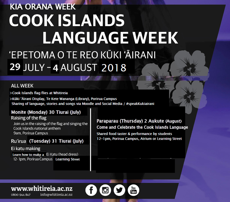 Cook Island Language Week 2018