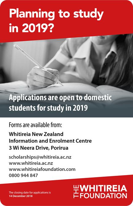Whitireia Foundation Scholarships