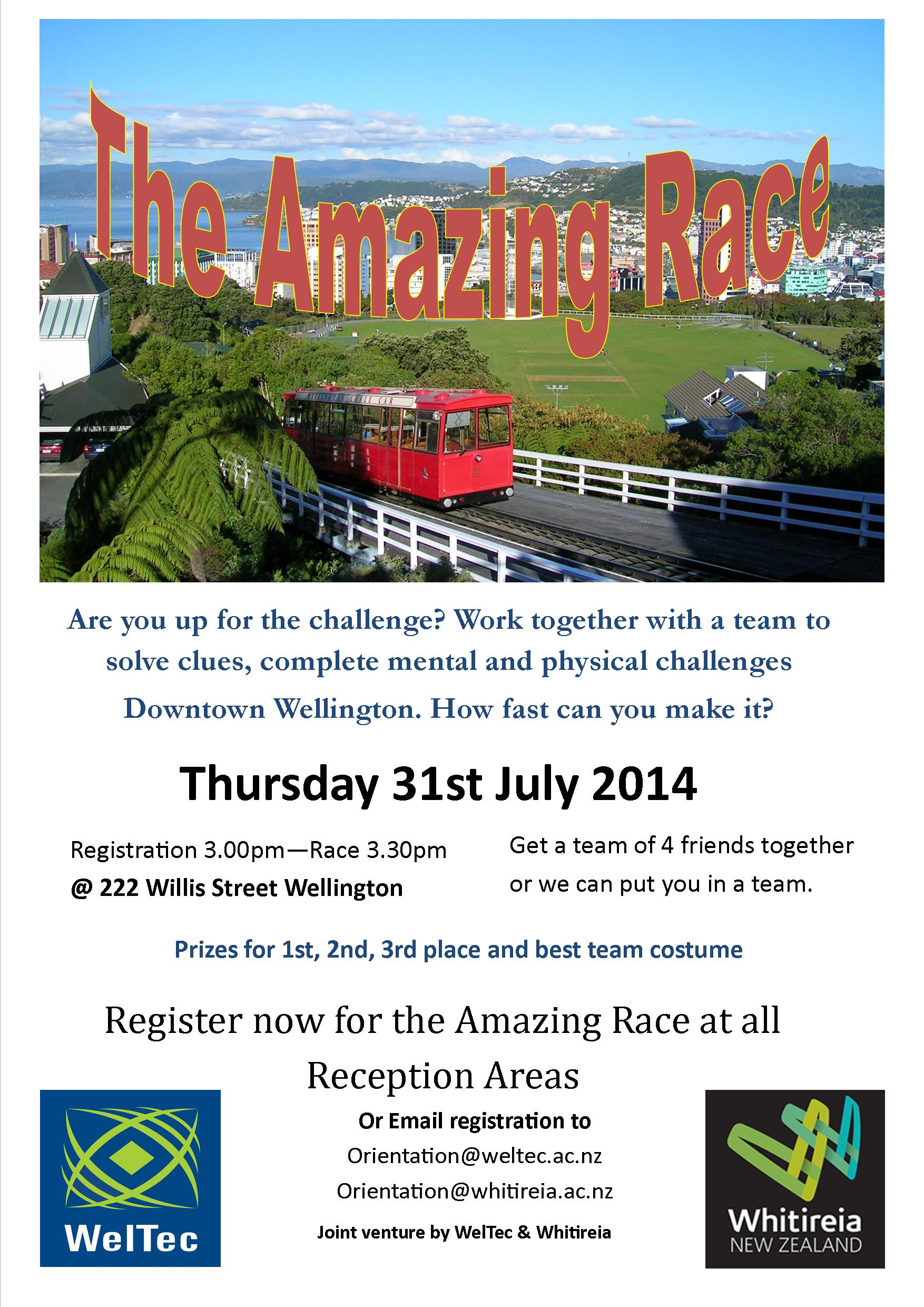 Amazing Race Poster July 2014
