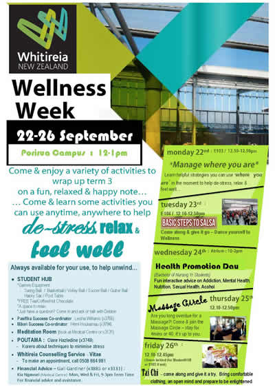 Porirua Campus: Whitireia NZ Wellness Week